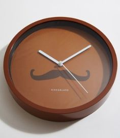 Chocolate Mustache Clock