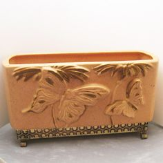 Hey, I found this really awesome Etsy listing at https://www.etsy.com/listing/190738421/california-potteryplanter-butterflies