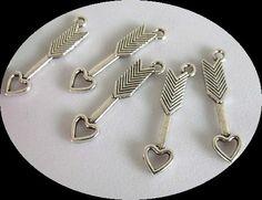 8pcs Silver 3D Arrow Charms Double Sided Pendants Destash Jewelry & Craft Supplies. $1.42, via Etsy.