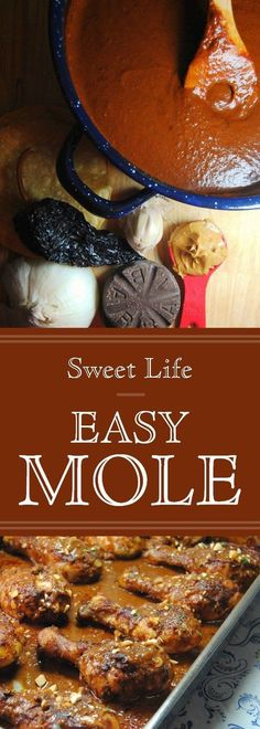 Easy Mole Recipe. #chicken #mexicanfood