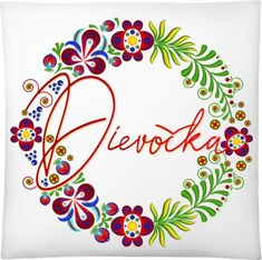 Štvorcový vankúš so slovenskou potlačou Dievočka. Textiles, Symbols, Peace, Logos, Art, Art Background, Logo, Kunst, Performing Arts