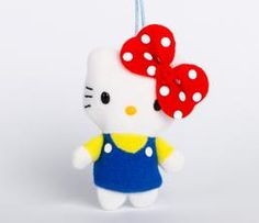 Hello Kitty Plush Holiday Ornament: Big Red Bow
