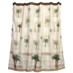 Add A Tropical Touch To Your Bathroom With This Citrus Palm Shower Curtain.  Shower Curtain