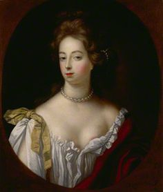 Eleanor ('Nell') Gwyn  by Simon Verelst  oil on canvas, feigned oval, circa 1680