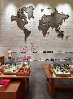 Rockwell Group was commissioned to design the New York flagship location of Shinola. Inspired by the brand's passion for innovation, beauty, utility, and att. Cool Restaurant, Restaurant Concept, Commercial Interior Design, Commercial Interiors, Wall Papar, Rockwell Group, Interior Photography, Hospitality Design, Retail Design