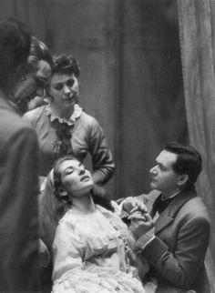 Maria Callas portraying a dying Violetta in a 1958 production of La Traviata
