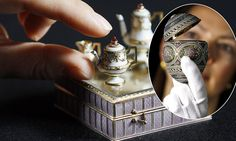 Perfection, down to a tea: The Royal Family's private Fabergé collection goes on display in Buckingham Palace