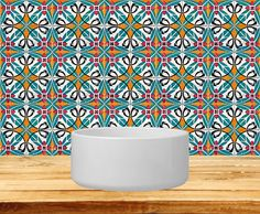 Tiles Stickers Set of 20 authentic Mexican shades by AlegriaM