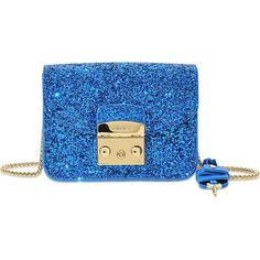 Furla Metropolis clutch ($290) ❤ liked on Polyvore featuring bags, handbags, clutches, blue, furla purses, blue handbags, blue purse, furla handbags and furla