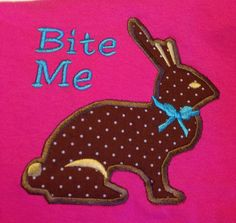 GG1030 Bite Me Bunny Applique by GnGDesigns on Etsy