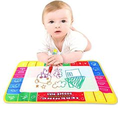 Baby Block Toys - SMTSMT 2016 Water Drawing Painting Writing Mat Board Magic Pen Doodle Toy Gift 29X19cm -- Be sure to check out this awesome product.