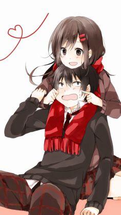 All about All about ANIME ! All about ANIME! Couple Anime Manga, Anime Siblings, Anime Couples Drawings, Anime Love Couple, Anime Couples Manga, Anime Couples Hugging, Kawaii Anime, Anime Cupples, Chica Anime Manga