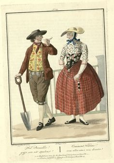 Comment Voisine! vous allez ainsi vous divertir Traditional costumes in Holland in the 18th century
