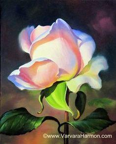 Rose-2, Oil painting.  Varvara Harmon Oil