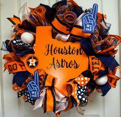 Houston Astros Wreath, Houston Wreath, Baseball Wreath, Houston Mesh Wreath, Houston Astros Mesh Wreath by Texascaseyscreations on Etsy Baseball Wreaths, Sports Wreaths, Monogram Wreath, Diy Wreath, Deco Mesh Wreaths, Door Wreaths, Houston Astros, Holiday Wreaths, Etsy