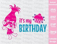 Check out our trolls birthday svg selection for the very best in unique or custom, handmade pieces from our shops. Trolls Birthday Party, Troll Party, 2nd Birthday Parties, Birthday Ideas, Princess Birthday, Girl Birthday, Happy Birthday, Princesa Poppy, Cricut Tutorials