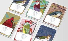 Business cards by connie - pretty!