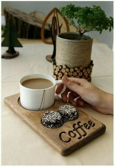 Coffee and tea service made of wood. Cafe restaurant for office and home - bar . - Coffee and tea service made of wood. Cafe restaurant for office and home – bar … - Rustic Kitchen Tables, Rustic Table, Diy Kitchen, Wood Table, Kitchen Decor, Kitchen Ideas, Kitchen Paint, Kitchen Wood, Kitchen Modern