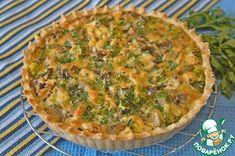 Киш лорен с курицей, грибами, брокколи - кулинарный рецепт