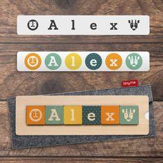 07ba8211d8887 Tinyme Wooden Name Block Puzzles Shape Names