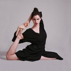 Wrap Dress Black Kimono Dress Knee Length Spring Dresses