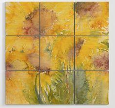 Sunburst Sunflower Art on Wood! Sunflower Art, Matisse, Wood Wall Art, Painting, Fashion, Fashion Styles, Painting Art, Paintings, Fasion