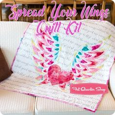 Spread Your Wings Quilt Kit Featuring Moda Fabrics | Fat Quarter Shop