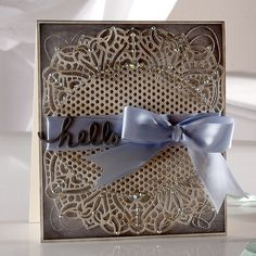 Card created with the new Die'sire 'Victoria' Create-a-Card die from #crafterscompanion