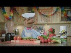 Kermits party with the Chef