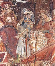 Triunfo de la muerte, detalle, Camposanto de Pisa, s. XIV