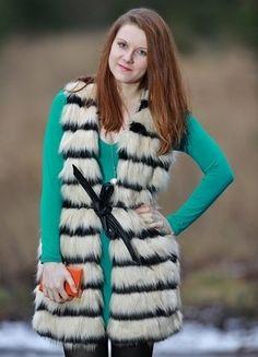 Kupuj mé předměty na #vinted http://www.vinted.cz/damske-obleceni/kozichy/16049673-kozesinove-vesta-ff-s-pruhy