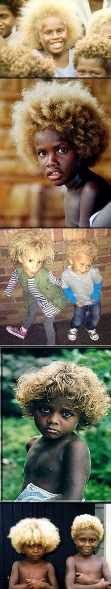 AFRICANS naturally born with blonde hair - BEAUTIFUL!!