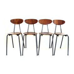 Mid Century Modern Bentwood Metal Chairs Set of Four from McModern Goddess Exclusively on Ruby Lane