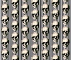 Skulls and Stripes fabric by whimzwhirled on Spoonflower - custom fabric