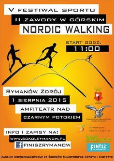 """w sobotę 1 sierpnia o godz. 11.00 odbędą się """"II zawody w Górskim Nordic Walking w Rymanowie Zdroju"""", szczegóły na stronie współorganizatora: www.naszrymanow.pl"""