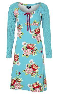 Tante Betsy dress Bouquet - waar kén ik dit stofje toch van ;-)? Ook leuk met roze mouwen #homemade