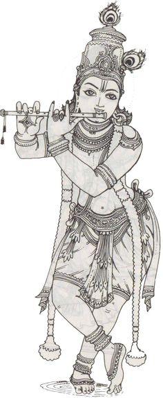 Hindu God - Avataras of Vishnu (Incarnations) Mysore Painting, Kalamkari Painting, Tanjore Painting, Krishna Drawing, Krishna Painting, Krishna Art, Krishna Images, Hare Krishna, Indian Art Paintings