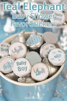 Set of 40 Thank You for Showering Our Little Man Favor Tags