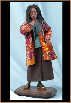 Jamaican doll maker, Peni Dyer, is a prize winning artist whose creativity and dedication to detail has earned her many prizes and recognition. She is one of the few figurative artists making porcelain portrait dolls of children from photographs and takes African Dolls, African American Dolls, American Girl, Beautiful Barbie Dolls, Pretty Dolls, Dark Autumn, Celebrity Barbie Dolls, Kubo And The Two Strings, Whoopi Goldberg