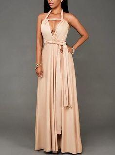 610d369f31 Floor Length Maxi Dress - Empire Waist   Convertible Strap