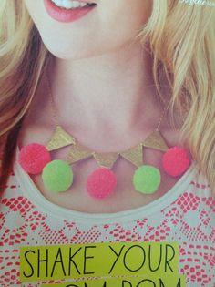 Pom Pom necklace | Mollie Makes Issue 42