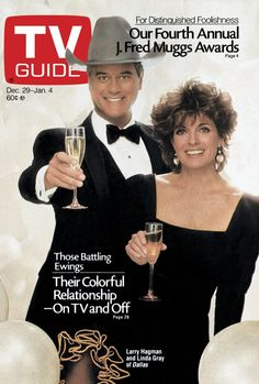December 1984 Larry Hagman and Linda Gray of Dallas Great Tv Shows, Old Tv Shows, 1980s Tv Shows, Dallas Tv Show, Larry Hagman, Linda Gray, Movies And Series, Tv Series, Vintage Tv