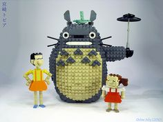 Totoro legos!  What inspiration!