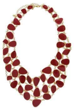 Maxi Colar Mosaico Burgundy | Juv