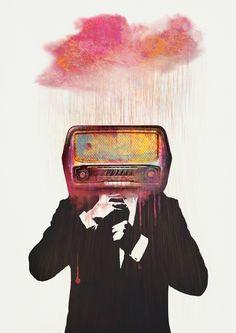 """Radiohead"" Art Print by One Man Workshop on Society6."