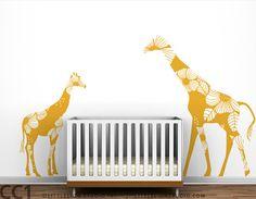 Giraffe Wall Decals..for kaylee's safari room