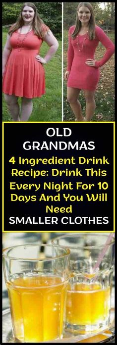 Old Grandmas 4 Ingredient Drink Recipe: Drink This Every Night For 10 Days And You Will Need Smaller Clothes – Do you really want to detox your body from toxic substances and lose some fat? If so then this apple cider vinegar detox drink is for you. Diet Drinks, Healthy Drinks, Healthy Tips, Healthy Detox, Healthy Food, Healthy Weight, Easy Detox, Healthy Popcorn, Fruit Drinks