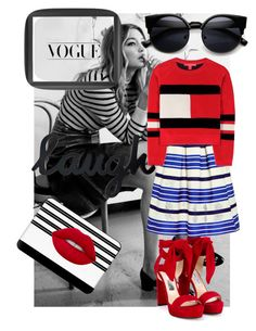 """""""Gigi ❤️"""" by madeliefbytheway ❤ liked on Polyvore featuring Jimmy Choo, Dot & Bo, Paul & Joe Sister, Tommy Hilfiger, Casetify and Lime Crime"""