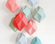 Crystal Template for Decorating by deKrantenkapper on Etsy