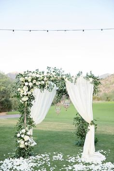 The romance and splendor of this desert oasis wedding gives a whole new meaning . The romance and splendor of this desert oasis wedding gives a whole new meaning to the word elegance. Wedding Ceremony Ideas, Wedding Altars, Outdoor Wedding Decorations, Outdoor Ceremony, Wedding Venues, Arch Wedding, Outdoor Weddings, Backdrop Wedding, Wedding Ceremonies
